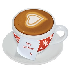 Note on the cup of coffee vector image