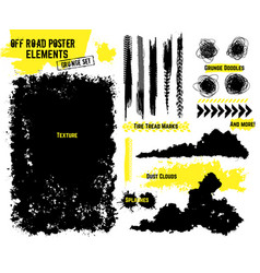 Off-road poster elements vector