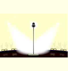 Open mic night light filled stage vector