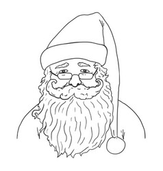 Outline santa claus character vector