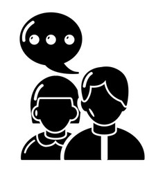 People conversation icon simple black style vector