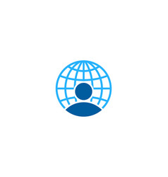 people globe logo icon design vector image
