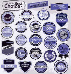 retro label style collection purple set vector image