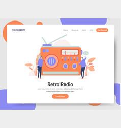 retro radio concept vector image