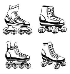 Set of roller skates design element for logo vector