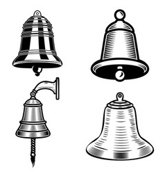 set of ship bell on white background design vector image