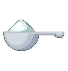 Spoon of washing powder icon cartoon style vector