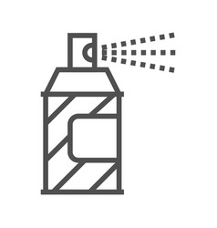 Spray paint line icon vector