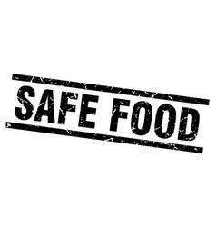 Square grunge black safe food stamp vector