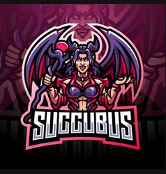 succubus esport mascot logo design vector image