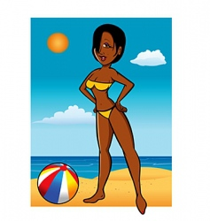 swimsuit model black vector image