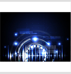 Technological abstract illuminated digital hud vector