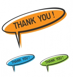 thank you bubble vector image