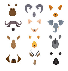 video mobile chat animal faces cartoon animals vector image