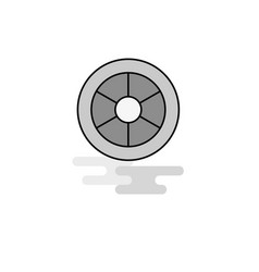 wheel web icon flat line filled gray icon vector image