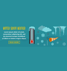 winter season weather banner horizontal concept vector image