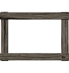 Wooden old frame vector