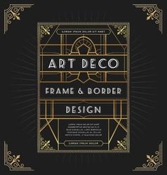 Art deco frame design for your design vector image