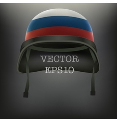 Background of helmet with russian flag vector image