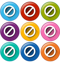 Colourful circle buttons with locks vector image vector image
