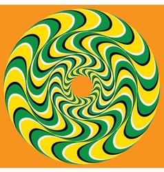 Hypnotic Swirly Sphere vector image vector image