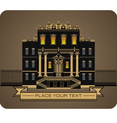 palace vector image