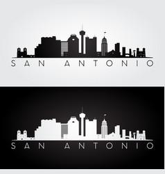 san antonio usa skyline and landmarks silhouette vector image