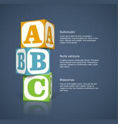 alphabet cubes vector image