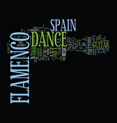 Flamenco dance in spain text background word vector