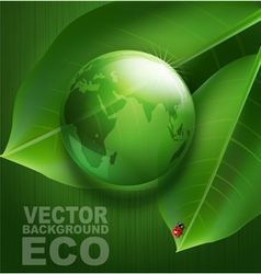 Green background on environmental issues vector image vector image