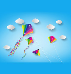 kite on sky vector image vector image
