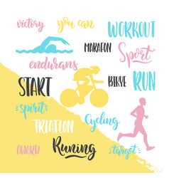 Logo sport triathlon vector