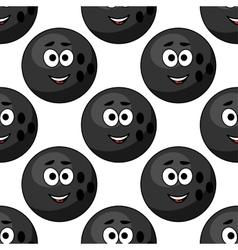 Seamless pattern of cartoon bowling balls vector image vector image