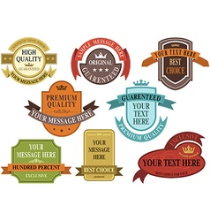 Set of vintage label banner vector image