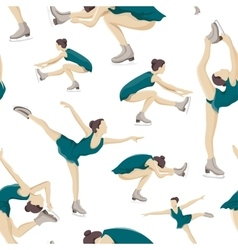 Figure skating set pattern vector image
