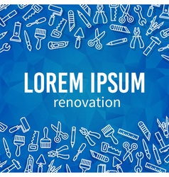 Linear renovation tools frame vector image vector image