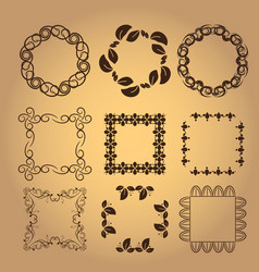 set of vintage design elements7 vector image vector image