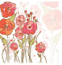 eps10 background with vibrant poppies vector image vector image