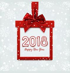 Happy new year 2018 desig vector