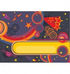 retro cosmos background vector image vector image