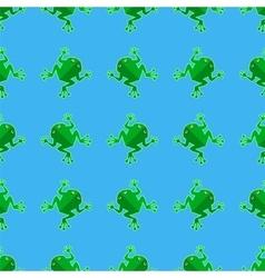 Seamless Cartoon Frog Pattern vector image