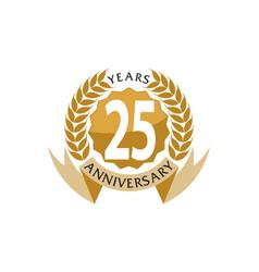25 years ribbon anniversary vector