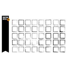 a set of frames black squares textural lines vector image