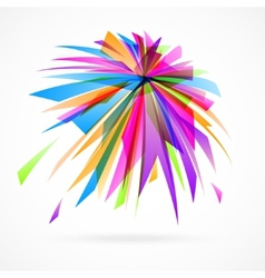 abstract background of colorful fragments vector image