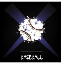 Abstract baseball ball of ink blots vector