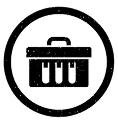 Analysis Box Rounded Grainy Icon vector