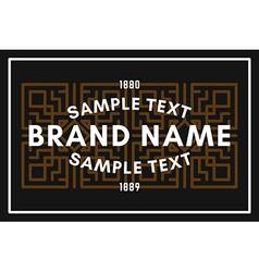 Art Decorative Geometric Old Fashioned Logo Label vector