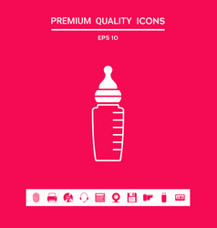 baby feeding bottle icon graphic elements for vector image