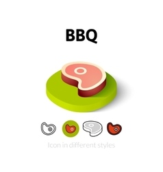 BBQ icon in different style vector