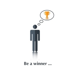 Be a winner vector image